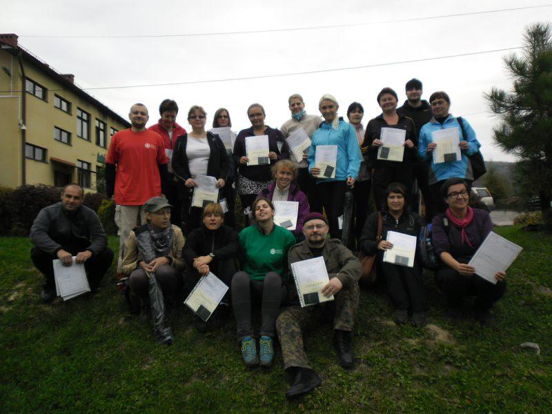 Instruktorzy Nordic Walking – Kurs w Zespole Szkół w Gilowicach – 2013r